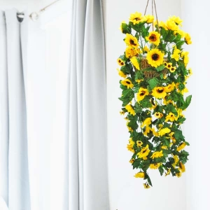 Artificial SunFlower Hanging Plant 60 cm Height