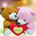 Add-On 6 inches (I Love You) Couple Bear