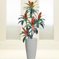 Artificial Cordyline Plant With Tall Circular Pot Total Height 160cm