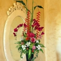 Artificial Heliconia & Orchid Tall Arrangement About 120cm Height