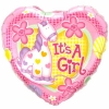 "Add-On 18"" Helium Filled (IT'S A GIRL) Mylar Floating Balloon"