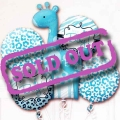 "Add-On ""It's a Boy!"" Floating Helium Bouquet Balloons ( 5pcs )"