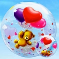 "Add-On 22"" Helium Filled Floating Bubble Balloon"