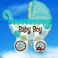 "Add-On 28""x31"" Helium Filled (Baby Boy) Balloon"