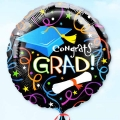 "Add-On 18"" Helium Filled Floating Graduation Balloon"