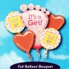 "Add-On ""It's a Girl!"" Floating Helium Bouquet Balloons ( 5pcs )"