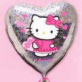 Add-on 18� Hello Kitty Holographic Heart Shape Floating Balloon