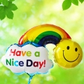 Add-On 23cm (Have A Nice Day) Rainbow Balloon