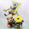 6 Inches Bear and a SpongeBob Square Pants Balloon with..