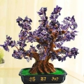 Purple Amethyst Crystal Gem Tree 30cm Height