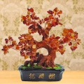 Mini Bonsai Agate Feng Shui Crystal Tree 23cm Height