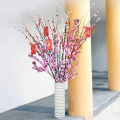 "6 Ft Pussy Willow In 23"" Height White Vase"