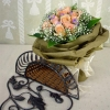 12 Champagne Roses Handbouquet With Special Wrapping