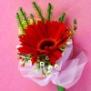 Red Gerbera Corsage ( Add-On Only, No Delivery )