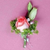 Peach Roses Corsage ( Add-On Only, No Delivery )