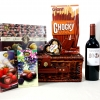 Red Wine with Assorted Chocolates and Cookies/Biscuits
