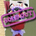 6 Graduation Teddy Bears (4 inches Height) & Artificial Roses Hand Bouquet