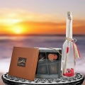 Message-in-a-Bottle ( 19cm ) Height & 4 Pcs Gourmet Chocolate