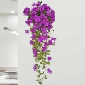 Fake Purple Bougainvillea Hanging Plant 50 cm Height