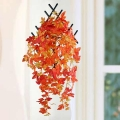 Artificial Maple Leaves Hanging Plant