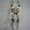 Ear Rings - Elegant-E Purple & Black