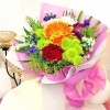 Mixed Flower, Rose & Gerbera Handbouquet
