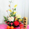 New Year Artificial Flower Arrangement