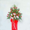 20 red roses arrangement 6 feet height