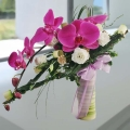 Purple Phalaenopsis Orchids Hand Bouquet