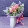 12 Peach Roses Hand Bouquet