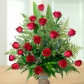 20 Red Rose Arrangement in ceramic Vase