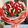 12 Red Roses Handbouquet Special Wrapping