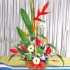 Anthurium with Tropical flowers arrangement--Kindly order 1 day
