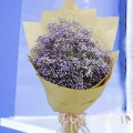 Purple Baby's-breath ( Gypsophila ) Hand Bouquet.<br> Note:<br> This is dyed color from white to purple.<br> Kindly order 2 days in advance.