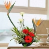Bird of Paradize Flowers Table Arrangement