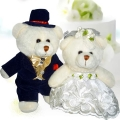 "Add-on 9"" WEDDING Day Bride & Groom Teddy Bears"