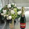 Piper Heidsieck Champagne & White Roses Standing Bouquet