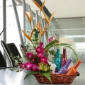 CockTails (Non-Alcohol) & Orchids Basket Arrangement