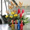 Vodka Ice Drifter With Flowers Basket Arrangement