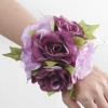 Artificial Purple Roses Wedding Wristlet.