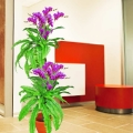 Artificial Flowering Plants With Boston Fern About 168cm Height