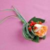 Champagne Rose & Hypericum Berries Corsage ( Add-On Only, No Delivery )