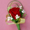Red Rose & Sweet William Corsage ( Add-On Only, No Delivery)