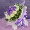 24 Roses ( 12purple 12white ) Hand bouquet