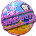"Add-On 9"" Happy Birthday Princess Balloon"